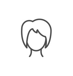 female line icon vector image