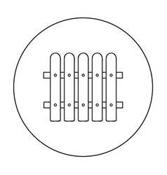 Fence icon in outline style isolated on white vector