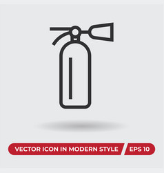 fire extinguisher icon in modern style for web vector image