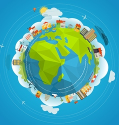Flat design of the Earth vector image vector image