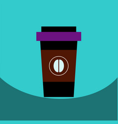 flat icon design collection coffee to go vector image