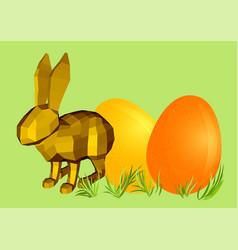 Fun rabbit and eggs vector