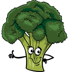 Funny broccoli vegetable cartoon vector