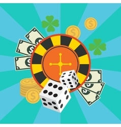 Gambling casino elements jackpot playing vector
