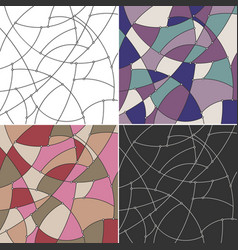 geometric backgrounds of the curves and nodes vector image