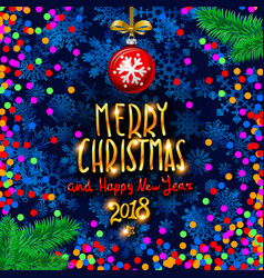 Gold merry christmas and happy new year vector
