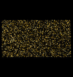 golden polka dot small confetti on black vector image