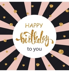 Happy Birthday greeting card poster placard vector image