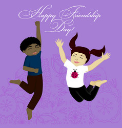 Happy friendship day card vector