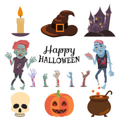 Happy halloween poster on vector