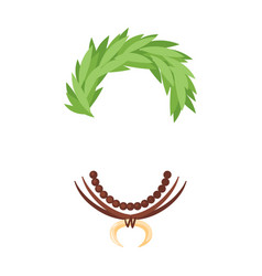 hawaii face element carnival mask vector image