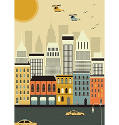 Helicopters over New York vector