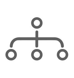 Hierarchy site map icon gray color vector
