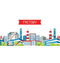 Industrial factory banner vector