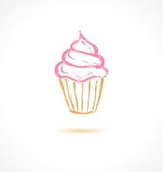 Ink pink cupcake vector