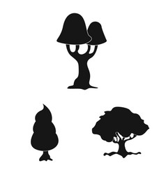 Isolated object of tree and nature symbol set of vector