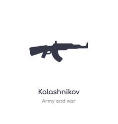 Kalashnikov icon isolated icon from vector