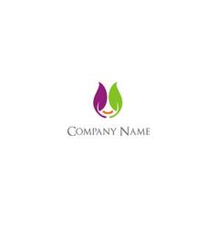 leaf colored beauty company logo vector image