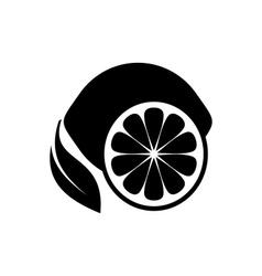 Lemon fruit icon vector image
