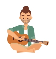 Man with guitar vector image