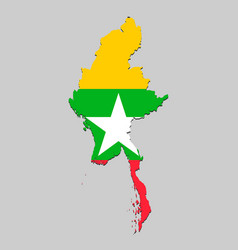 Map with national flag vector