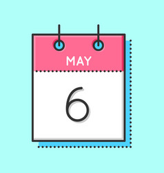 May calendar icon vector