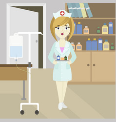 medical doctor nurse girl vector image
