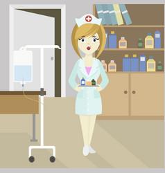 Medical doctor nurse girl vector