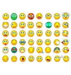 Mega big collection set of Emoji face emotion vector image
