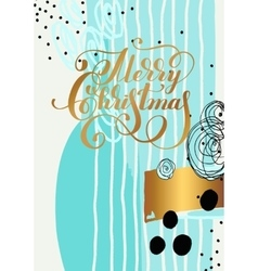 Merry christmas hand written calligraphy with vector