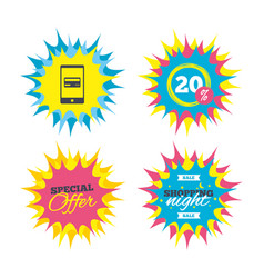 Mobile payments icon smartphone with card vector