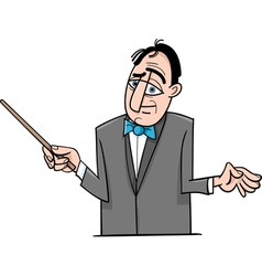 orchestra conductor cartoon vector image