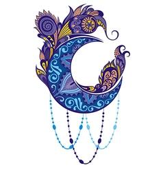 Ornament moon vector