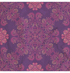 ornamental seamless pattern on purple texture vector image