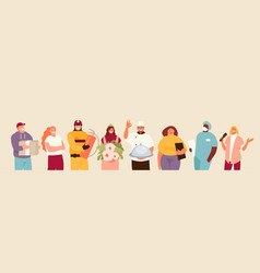People group different professions vector