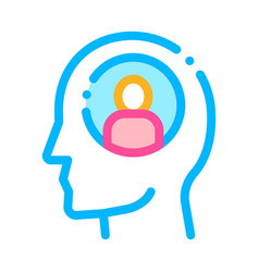 person avatar in man silhouette mind icon vector image