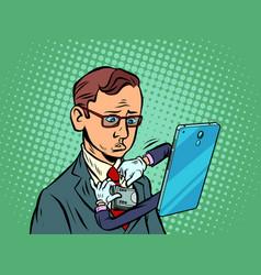 phone ties a man tie vector image