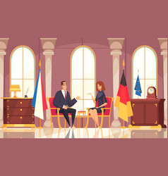 President workplace flat composition vector