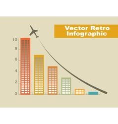 Retro Infographic vector image