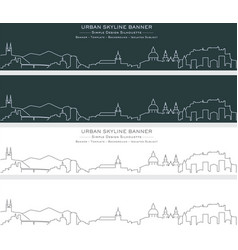 salzburg single line skyline banner vector image