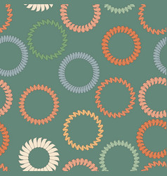 seamless background with rings from springs vector image