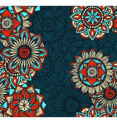 Seamless Mandalas Pattern vector
