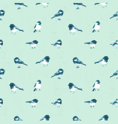 seamless pattern with little birds haned drawn vector image