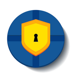 shield guard icon with shadow on the white vector image