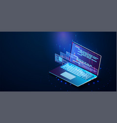 software development programming vector image