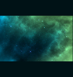 space background green realistic cosmos backdrop vector image
