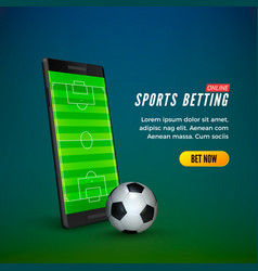 Sports betting online web banner template vector