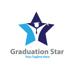 star graduation logo designs vector image
