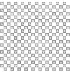 Star pattern seamless checkerboard vector