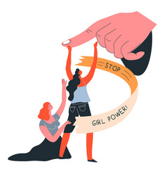 Stop discrimination fight for women rights vector